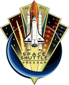 "Nasa ""Shuttle Program Commemorative Patch"" Unisex T-Shirt by Quatrosales Batman Stickers, Nasa Patch, Nasa Missions, Whirlpool Galaxy, Space Program, Space Shuttle, Space Telescope, Space Travel, Space Exploration"