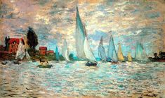 monet paintings | Responses to Monet's paintings of French rowing and sailing boats ...
