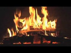 3 Hours of Christmas music with Fireplace