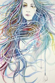 Tangles - 50 Mind Blowing Watercolor Paintings <3 <3