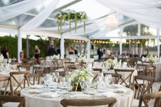 Garden reception // Heather Funk Photography