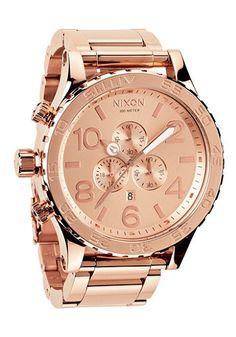 NIXON - 51-30 Chrono all rose gold #planetsports #nixon #chronograph