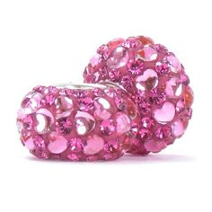 Set of 2 - Bella Fascini Sweethearts Love Heart Crystal Pave Sparkle Bling - Raspberry Pink Crystal Pave with Pink Hearts - Solid .925 Sterling Silver Core European Charm Bead Made with Authentic Swarovski Crystals - Compatible Brand Bracelets : Authentic Pandora, Chamilia, Moress, Troll, Ohm, Zable, Biagi, Kay's Charmed Memories, Kohl's, Persona & more! Bella Fascini Beads,http://www.amazon.com/dp/B00H6VP696/ref=cm_sw_r_pi_dp_xvuTsb1FNRFYBMGD
