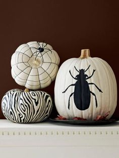 Black and White Pumpkins - Cosmopolitan.com