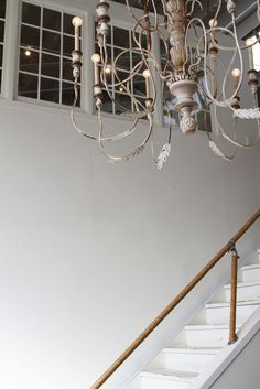 another idea for my crappy brass chandelier in foyer.