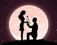 :::: ♡ ✿⊱╮☼ ☾ PINTEREST.COM christiancross ☀❤•♥•* :::: Posted Jan 23 2011. By Free Vector Silhouette of a man presenting a rose on his knee to a beautiful woman File Type CDR + EPS + Preview Download