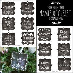Names of Christ - free printable ornaments - ldslane.net
