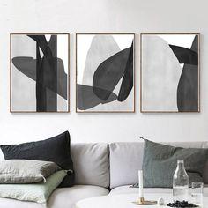 Abstract Art Poster Set Of 3 Prints Gray Wall Art Bedroom Grey Abstract Art, Grey Art, White Art, Abstract Print, Art Print, Black Wall Art, Large Wall Art, Black Art, Cuadros Diy