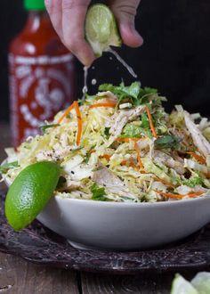.thai chicken lime slaw