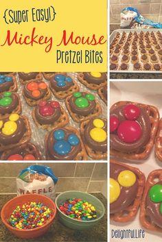 Mickey Mouse Pretzel Treats • Delightful Life