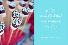 I'm going to add a few of these Chocolate Dipped Marshmallows to my Chocolate Dipped Strawberry Bouquets!! It's gonna be good!!!