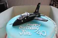 RAF Hawk Aeroplane Birthday Cake