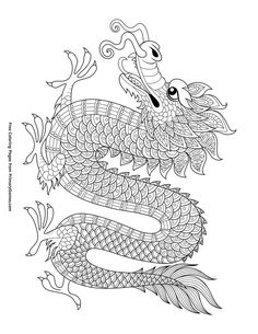 Free printable Chinese New Year Coloring Pages eBook for use in your classroom or home from PrimaryGames. Print and color this Chinese Dragon coloring page. Chinese New Year Crafts For Kids, Chinese New Year Activities, Chinese Crafts, Chinese Dragon Drawing, Chinese New Year Dragon, Dragon Tattoo For Women, Dragon Tattoo Designs, New Year Coloring Pages, Free Coloring Pages