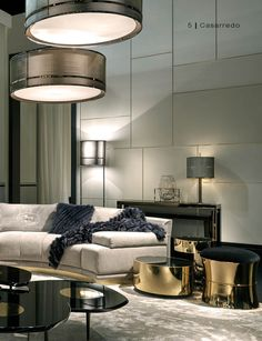 CONTEMPORARY INTERIOR WITH GOLDEN DETAILING   Beautiful living space decorated with gold   http://www.bocadolobo.com/   #goldfuriniture