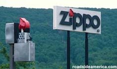 View of the Zippo Case Museum from 219 South in Bradford, PA