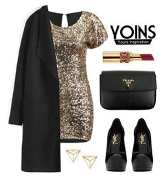 """""""YOINS"""" by baludna ❤ liked on Polyvore featuring Yves Saint Laurent, Prada, women's clothing, women, female, woman, misses and juniors"""