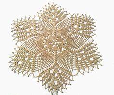 New Hand Crochet Doily Lace Doily Ivory