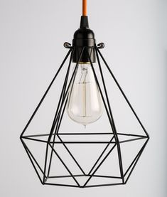 This black diamond cage light shade is quite architectural in feel and would look stunning in a barn conversion with high ceilings and exposed wooden beams.