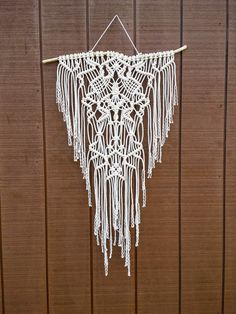 SALE / Macrame Wall Hanging / Woven Fringe by WallHuggerHandmade