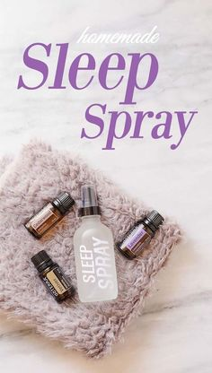 Homemade sleep spray with essential oils