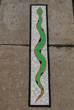 Jungle Art of a Snake by the Shipibo People of the Amazon, Peru by BecuzWhy on Etsy
