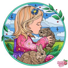 Coloring Apps, Colouring Pics, Coloring Books, Coloring Stuff, Game Happy, Bunny Art, Paint By Number, Happy Colors, 2 Colours