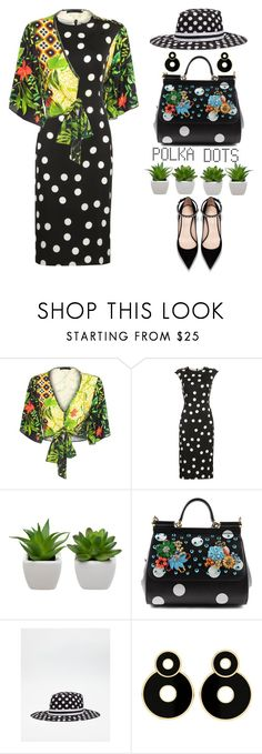 """""""Polka Dots Power Look"""" by shoaleh-nia ❤ liked on Polyvore featuring Dolce&Gabbana"""