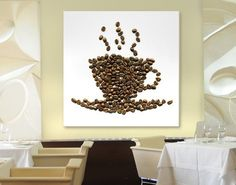 #LEINWANDBILD COFFEE BEANS CUP #kaffee #Genuss #coffee #time