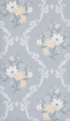 Almudaina Wallpaper in Gray from the Deya Collection by Matthew Williamson