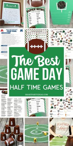 Football Party Games, Football Theme Birthday, Tailgate Games, Football Themes, Sports Party, Kids Party Games, Birthday Party Games, Super Bowl Party Games, Game Party