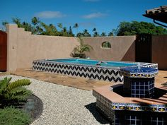 Beautiful tile work makes this Endless Pool stand out.