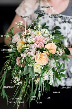 A Country Garden Inspired Bridal Bouquet Recipe