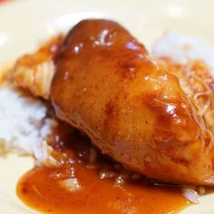Sweet Hawaiian Crockpot Chicken @keyingredient #crockpot #chicken