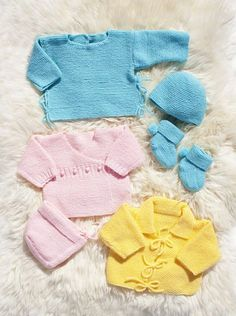 Lättstickade babyplagg 1 Stick O, Knit Crochet, Onesies, Knitting, Children, Sweaters, Clothes, Babies, Babyshower