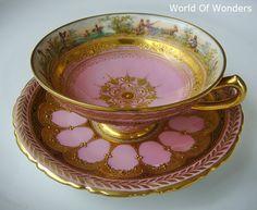 Several amazing antique tea cups