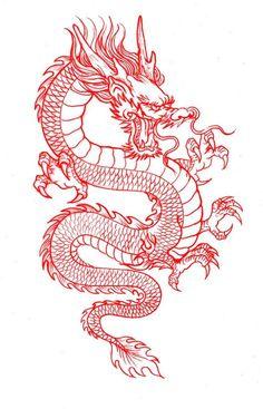 Dragon Tattoo Drawing, Red Dragon Tattoo, Chinese Dragon Tattoos, Dragon Tattoo For Women, Dragon Tattoo Designs, Dragon Sleeve Tattoos, Mini Tattoos, Red Tattoos, Body Art Tattoos