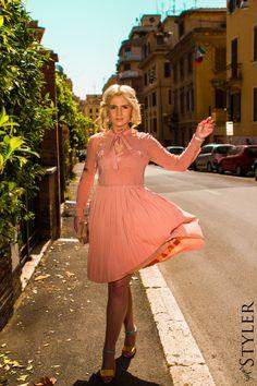 My summer love - letnia stylizacja z sukienką Sportmax, sandałkami Mellow Yellow, torebką Aldo i kolczykami Swarovski.