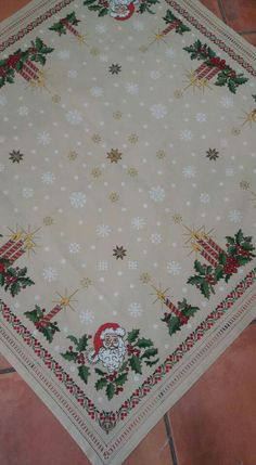 Cross-stitch pattern for Christmas table runner Xmas Cross Stitch, Cross Stitch Borders, Modern Cross Stitch, Cross Stitching, Cross Stitch Patterns, Christmas Embroidery, Diy Embroidery, Cross Stitch Embroidery, Christmas Ornaments To Make