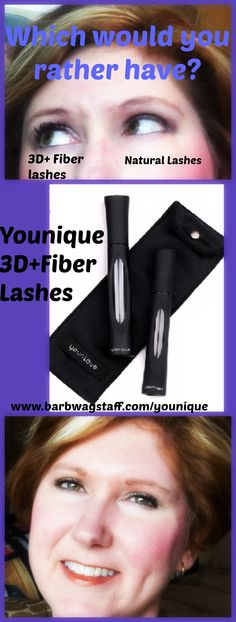 Looking for fuller, longer lashes without harmful chemicals or glue? Try 3D+ fiber lashes!! I can't go a day without my lashes :o  www.barbwagstaff.com/younique