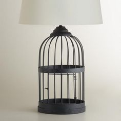 One of my favorite discoveries at WorldMarket.com: Metal Birdcage Table Lamp Base