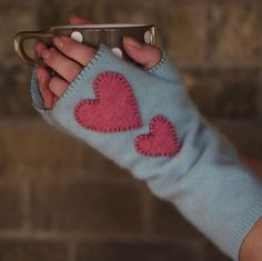 Fingerless gloves recycled Cashmere (pale blue ... - Folksy