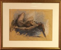 Original Work on Paper, Female Nudes, by Hans Gustav Burkhardt (1904-1994). Available for purchase at http://treasuredestates.com/showroom/product/147-work-on-paper-female-nudes-by-hans-gustav-burkhardt