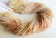 5 Strands WHOLESALE Opal Pink Opal Beads Peruvian by gemsforjewels