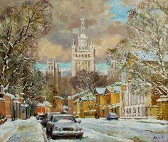 The big Nikitskaja street  --------------------------------------------------------------------------------    Artist     Valeri Izumrudov