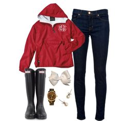 """""""Gamecock Rainy Day Wear"""" by classically-preppy on Polyvore"""