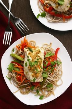 Tamari-Ginger Steamed Halibut with Veggies