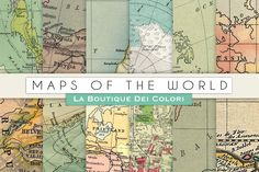 Maps of the World by La Boutique dei Colori on Creative Market