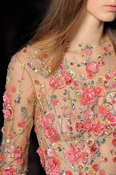 Details from Zuhair Murad Haute Couture Spring 2016.Paris Fashion Week.