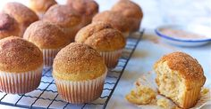 Doughnut Muffins | King Arthur. A Toasty vanilla muffin with a hint of nutmeg and a topping of butter and cinnamon-sugar.