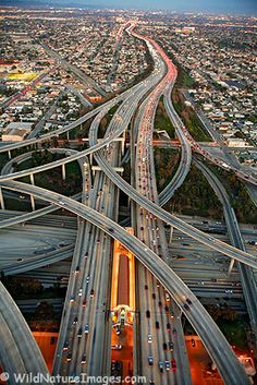 Intertwining highways - Love the aerial view!